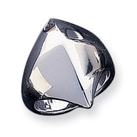 Sterling Silver Solid Domed Ring - Size N