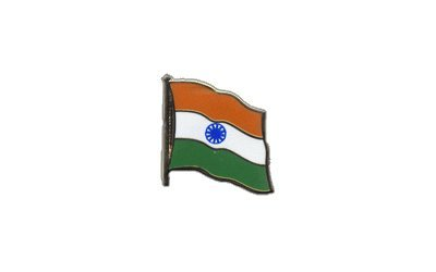 Flaggen-Pin / Anstecker Indien vergoldet