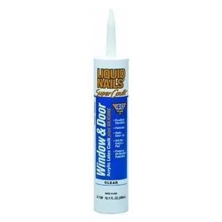 Akzo Nobel-macco LC-130 Liquid Nails 10 oz Clear Latex Window & Door Caulk by Akzo Nobel-macco
