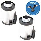 HQRP 2-Pack Washable Filter Compatible with Eureka Optima Pet Lover Oh! - 439AZ