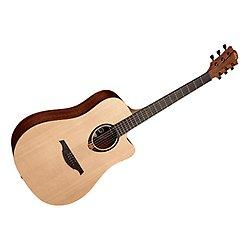 Guitarra acustica lag dreadnought cutaway