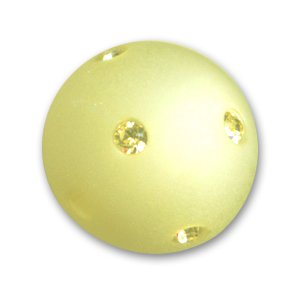 Perle ronde strass Polaris 14 mm Jonquil x1