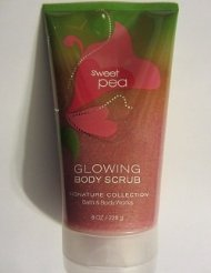 Bath & Body Works Glowing Body Scrub Sweet Pea 8oz