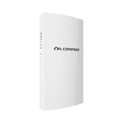 Festnight COMFAST Drahtlose Brücke Outdoor CPE IP65-POE-SSID für Sicherheit und Überwachung