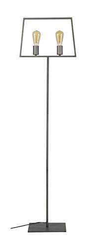 SalesFever Stehlampe mit 2 Leuchten Rohrrahmen Geronimo -
