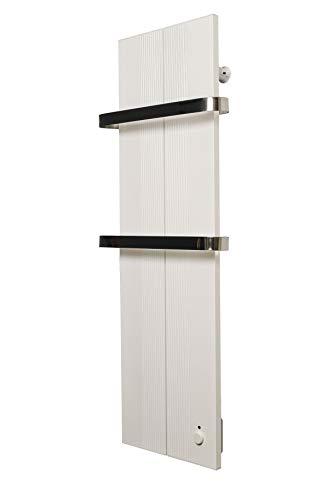 Finesa Badheizkörper-Handtuchwärmer-Elektrischer,Wärmeabgabe 400-750 W,Termostat,Handtuchtrockner,Handtuchhalter (1000x404, Weiß)***** 5 Jahre GARANTIE *****