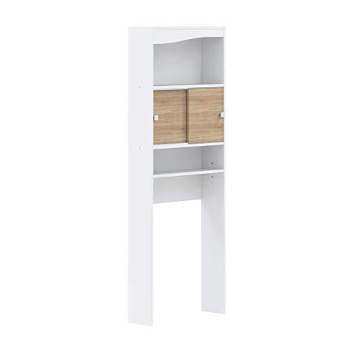 AmazonBasics - Mueble de baño, 64.3 x 19.2 x 177cm (largo x...