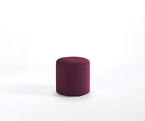 Designer Hocker MIA Roller Lounge Sitzpouf Fußstütze Schurwolle Main Line Flax, Farbe :MLF11 - Violett meliert