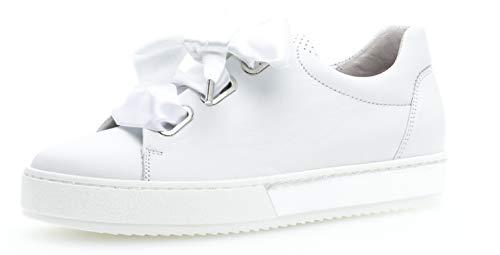 Gabor 26.505 Damen Sneaker,Skater Sneaker, Frauen,Sportschuh,Low-Top,Comfort-Mehrweite,Optifit- Wechselfußbett,Weiss,2.5 UK (Weiß-schule Tennis-schuhe)