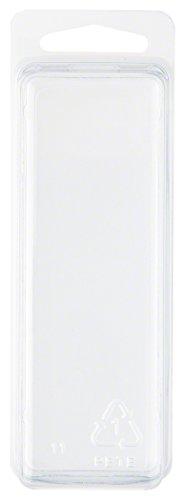 Klar Kunststoff Clamshell Paket/Container, 10,6cm H x 3,8cm W x 3,2cm D, plastik, 10-Pack