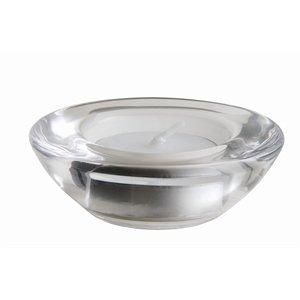 6X Tealight Holder Saucer 75X25mm Glass Clear Tea Coffee Cup