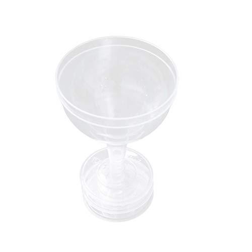 TOYANDONA 24 stücke Durchsichtigen Kunststoff Martini Gläser Mini Cocktail Tassen Gläser für Vorspeisen Desserts Mousse Hochzeit Geburtstag Party Supplies