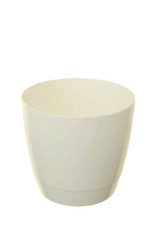 Whitefurze Pot rond d'intérieur 22 cm blanc
