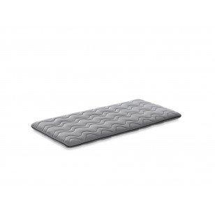 Colchón de cuna de viaje, 120 x 60, color gris