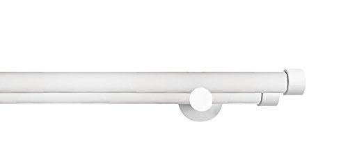 Tilldekor Gardinenstange HIGH-LINE ANDRAX, weiß-glanz, Ø 20 mm,2-Lauf, 200 cm, inkl. Trägern und Endstücken