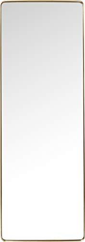 Kare Design Spiegel Curve Rectangular Messing, moderner Wandspiegel, edler Badspiegel, großer rechteckiger Schminkspiegel, (H/B/T) 200x70x5cm - Runde Esszimmer-serie