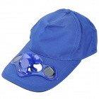 #7: Baseball Hat / Cap with Solar Powered Cooling Fan - Dark Blue (55~58cm)