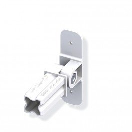 Connecteur base articulé blanc 23.5mm 1 embout pour tube alu et pvc