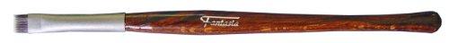 Fantasia - 17219 - Pinceau fard à paupières - Manche Revlona marron moiré - Bague serrage mate - Plat/droit - 15 cm