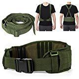 Taktische Gürtel Heavy Duty Einstellbare Sicherheit Taktische Molle Gürtel mit Freies Band Für Jagdausrüstung und Outdoor-aktivitäten (Armee Grün)