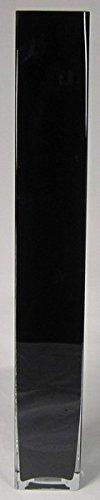INNA Glas Set 2 x Bodenvase Leon, Quader/viereckig, schwarz, 10x10x70cm - Deko Vase/Glasvase