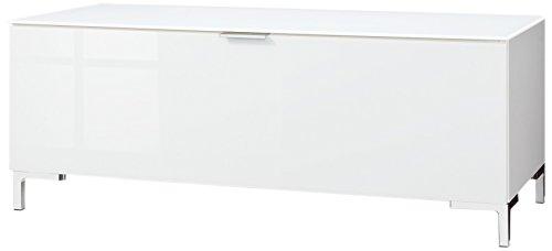 CS Schmalmöbel 45.012.505/007 TV-Board Cleo Typ 10, 109 x 50 x 44 cm, weiß / weißglas