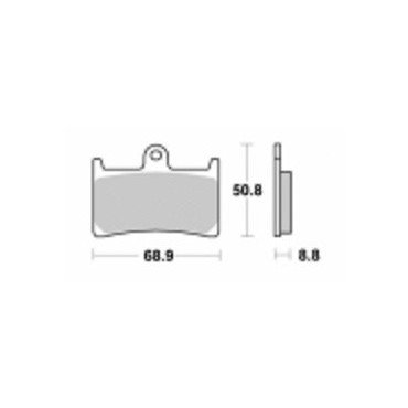 YAMAHA T-MAX 500-08/11-T-MAX 530-12/14-S1033N-Pastiglie freno anterio