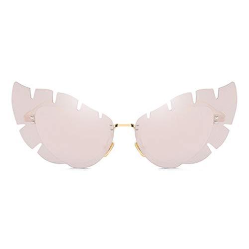Liuao 2019 Schmetterling-förmige cat Eye Sonnenbrille persönlichkeit unregelmäßige linse randlose Sonnenbrille Mode Damen Metall Sonnenbrille,Style 1