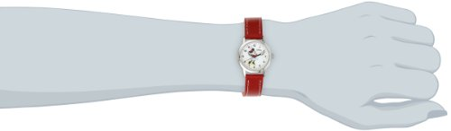 Image of Disney Women's MN1023 Minnie Mouse White Dial Red Strap Watch
