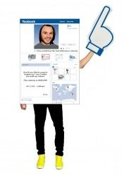 Facebook Kostüme (Morphsuits MCCUISM1 - Social King Unisex Kostüm,)