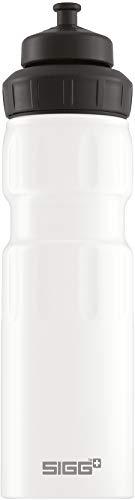 SIGG WMB Sports White Touch Sport Trinkflasche, (0,75 L), schadstofffreie und auslaufsichere Trinkflasche, federleichte Trinkflasche aus Aluminium