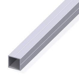 Tube carré de 0.84m 23.5 pour m20 alu brut - structure modulaire