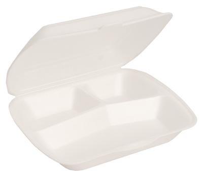 der-verpackungs-profi 200 Menüboxen weiß 3-Geteilt Außerhausbox Menübox Menü Boxen