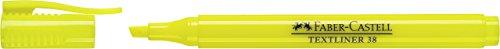 Faber-Castell 157707 - Textmarker Textliner 38, in Stiftform mit Clip, gelb
