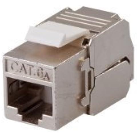 CAT6A Keystone Módulo apantallamiento, Tool Less