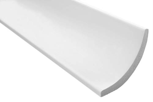 40 Meter   Styropor Stuckleisten   Decke   stabil   weiß   Zierprofil   leicht   dekorativ   XPS   75x75mm   E-13