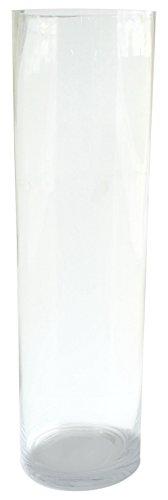 Moycor 221 Jarrón Cristal Blanco (Transparente) 14x14x50 cm