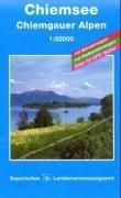 Topographische Sonderkarten Bayern. Sonderblattschnitte auf der Grundlage der amtlichen topographischen Karten, meist grössere Kartenformate mit Bayern, Bl.7, Chiemsee, Chiemgauer Alpen