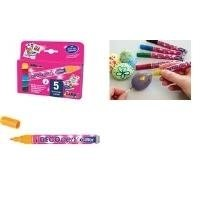 KREUL 46170 Acrylmarker Hobby Line Deco Pen Glitter, 5er-Set Glitter Line
