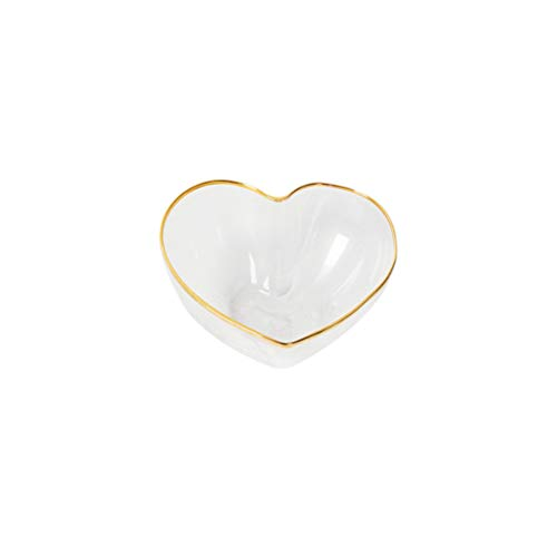 TOYANDONA Crystal Bowl Heart Glasschale zum Servieren von Obstsalat-Snacks Crystal Heart Bowl
