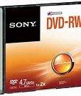 DAYDEALZ 5 Pieces Sony DVD-RW (ReWritable) Single Slim Case, DMW47SS