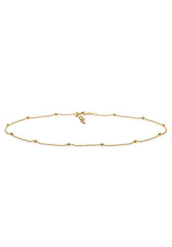 Elli Damen-Kugelkette Choker 925 Silber 36 cm - 0103471617_36