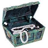 Fdit Acquario decorazioni, artificiale decorativo Treasure Jewelry Box ornamento per acquario decorazione paesaggio, Lyndee
