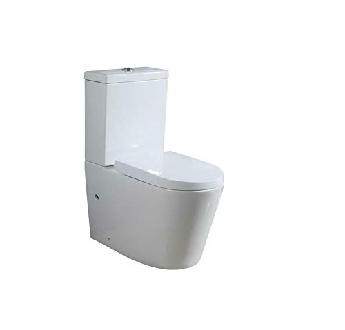 Basong Stand-WC Toilette Tiefspüler Kombination mit Spülkasten Absenkautomatik Waagerecht