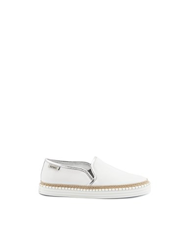 Hogan rebel slip on sneakers donna hxw2600q560gix0351 pelle bianco