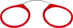 Preisvergleich Produktbild Reading Glasses Classic Pince Nez Red by Seeoo-strength +3.00