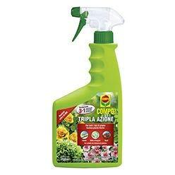 750 ml tripla azione compo spray insetticida fungicida acaricida pronto all' uso elimina stermina insetti