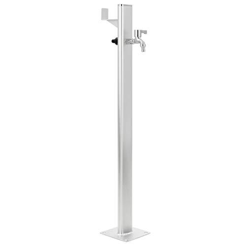 vidaXL Wassersäule Aluminium 95 cm Wasserzapfsäule Wasserzapfstelle Brunnen