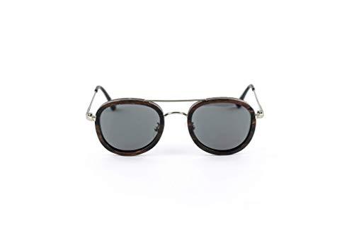 Coco Sonnenbrille aus Edelstahl und dunklem Sandelholz - TAC Brillengläser