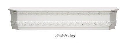 Mensola stile barocco in legno con fregio disponibile in diverse rifiniture L'ARTE DI NACCHI 4956/BG